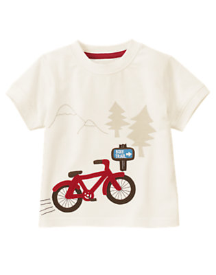 Ivory Bike Trail Tee by Gymboree