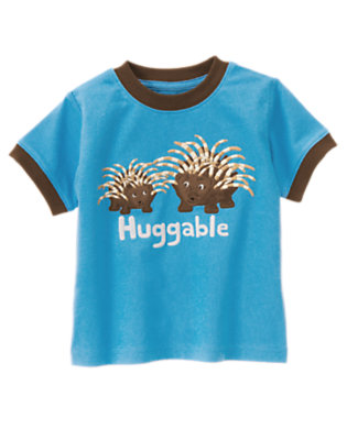 Trailblazer Blue Huggable Porcupine Tee by Gymboree