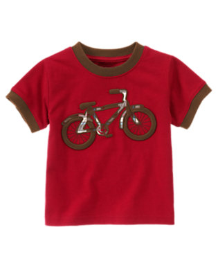 Bicycle Red Plaid Bicycle Tee by Gymboree