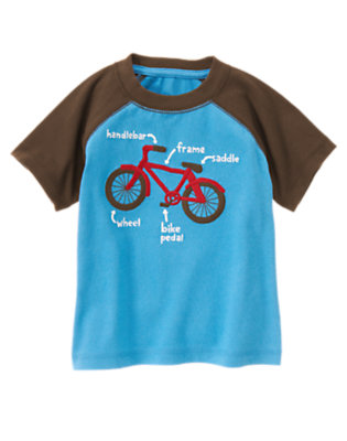 Trailblazer Blue Bicycle Tee by Gymboree