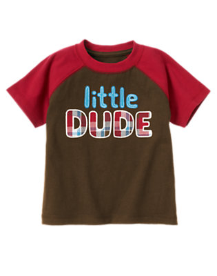 Chocolate Brown Little Dude Tee by Gymboree