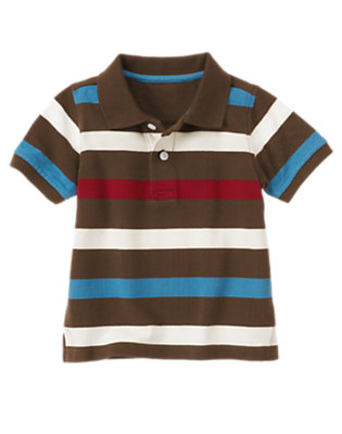 Ivory Stripe Stripe Pique Polo Shirt by Gymboree