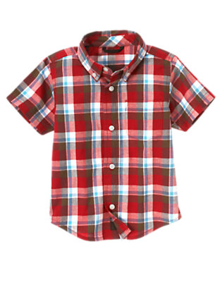 Bicycle Red Plaid Bicycle Red Plaid Shirt by Gymboree