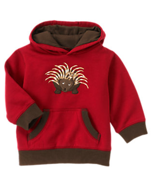 Bicycle Red Porcupine Hoodie by Gymboree