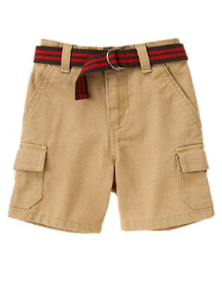 Khaki Belted Canvas Cargo Short by Gymboree