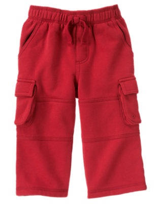 Bicycle Red Fleece Cargo Pant by Gymboree