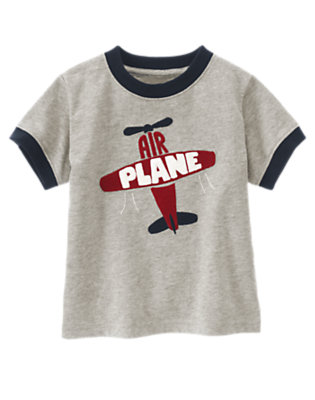 Heather Grey Airplane Tee by Gymboree