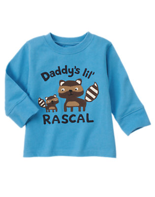 Trailblazer Blue Daddy's Lil' Rascal Tee by Gymboree