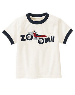 Ivory Zoom Motorcycle Tee by Gymboree