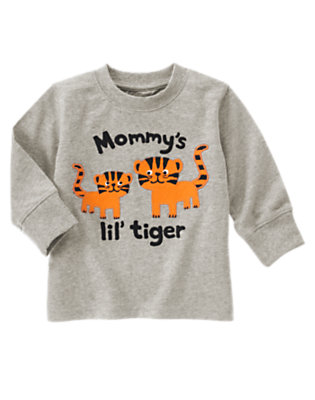 Heather Grey Mommy's Lil' Tiger Tee by Gymboree