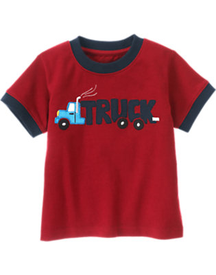Active Red Truck Tee by Gymboree