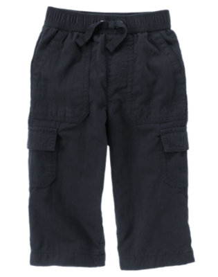 Gym Navy Lined Cargo Active Pant by Gymboree