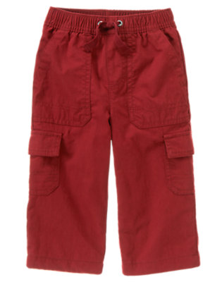 Active Red Lined Cargo Active Pant by Gymboree