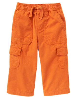 Pumpkin Orange Lined Cargo Active Pant by Gymboree