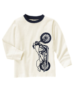 Ivory Motorcycle Tee by Gymboree