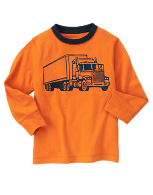Pumpkin Orange Big Truck Tee by Gymboree