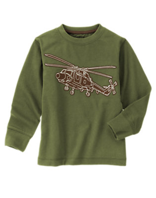 Olive Green Helicopter Tee by Gymboree