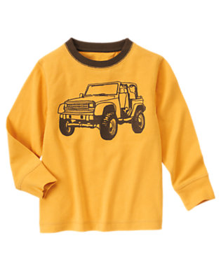 Mustard Yellow Jeep Tee by Gymboree