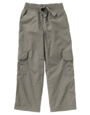 Dark Grey Lined Cargo Active Pant by Gymboree