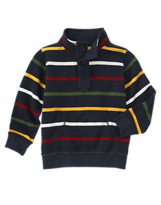 Gym Navy Stripe Multi Stripe Pullover by Gymboree