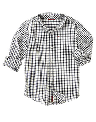 Ivory Check Tattersall Shirt by Gymboree