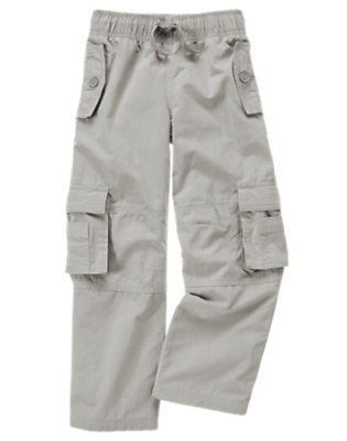 Soft Grey Lined Cargo Active Pant by Gymboree