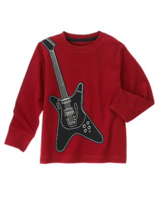 Academy Red Guitar Tee by Gymboree