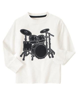 Ivory Drum Tee by Gymboree