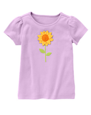 Violet Purple Sunflower Tee by Gymboree