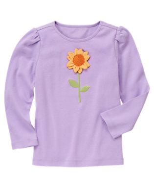 Violet Purple Sunflower Long Sleeve Tee by Gymboree