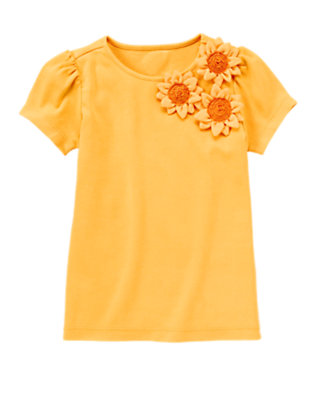 Sunflower Yellow Sunflower Blossom Tee by Gymboree