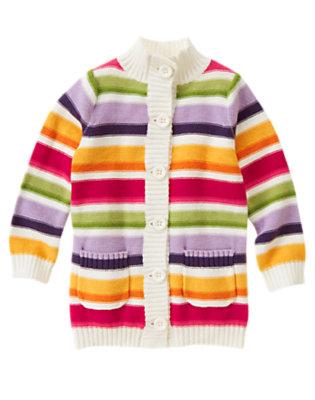 Pretty Pink Stripe Stripe Sweater Cardigan by Gymboree