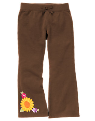 Chocolate Brown Sunflower Flare Pant by Gymboree