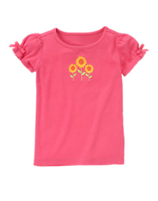 Pretty Pink Bow Sunflower Tee by Gymboree