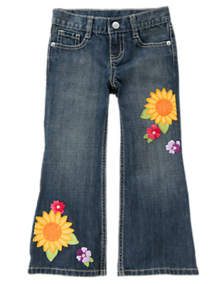 Denim Sunflower Bootcut Jean by Gymboree