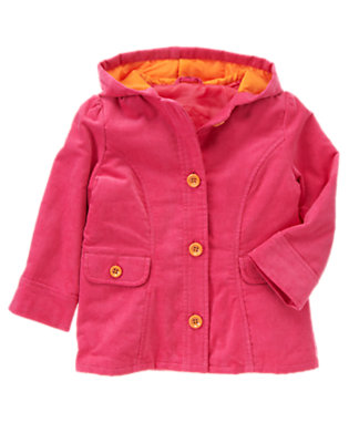 Pretty Pink Corduroy Hooded Jacket by Gymboree