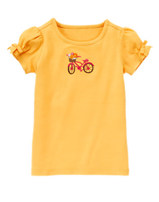 Sunflower Yellow Bow Bicycle Tee by Gymboree