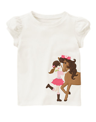 Ivory Horse Rider Tee by Gymboree