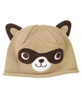 Khaki Raccoon Hat by Gymboree