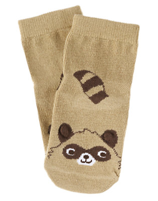 Baby Khaki Raccoon Sock by Gymboree