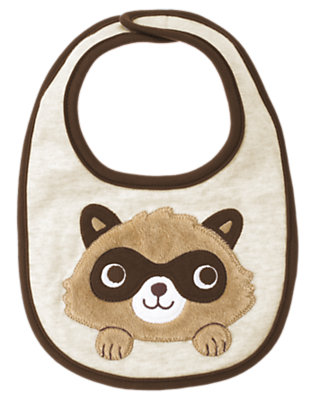 Raccoon Heather Raccoon Bib by Gymboree