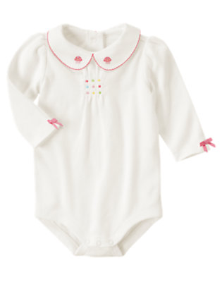 Ivory Cupcake Collar Bodysuit by Gymboree