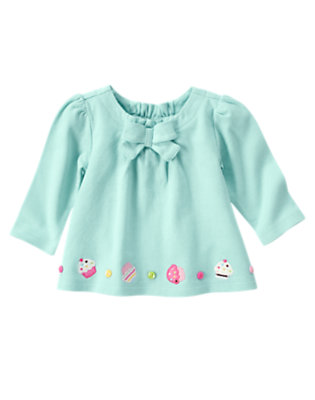 Baby Blue Cupcake Button Swing Top by Gymboree