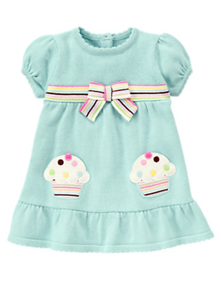 Baby Baby Blue Cupcake Pocket Sweater Dress by Gymboree