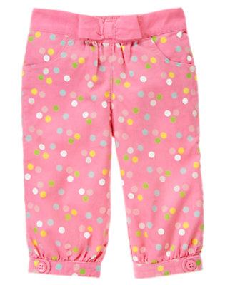 Cupcake Pink Dot Dot Corduroy Pant by Gymboree