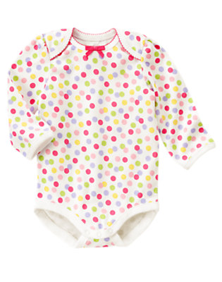 Candy Pink Dot Dot Bodysuit by Gymboree