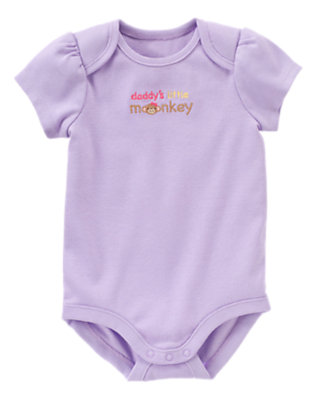 Lavender Daddy's Monkey Bodysuit by Gymboree