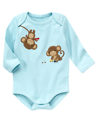 Dream Blue Boy Monkey Bodysuit by Gymboree