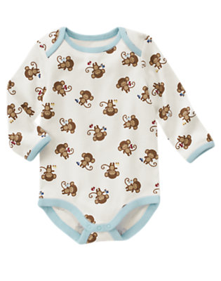 Monkey Monkey Bodysuit by Gymboree