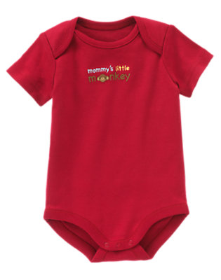 Red Mommy's Monkey Bodysuit by Gymboree
